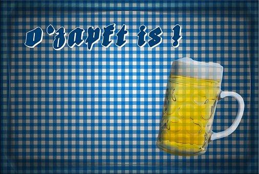 Oktoberfest, Beer Garden, Blue, White, Checkered