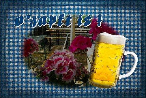 Oktoberfest, Beer Garden, Ozapft Is, Beer, Beer Glass