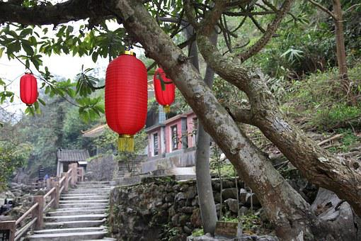 Red Lantern, Tree, Ladder, Xinxing