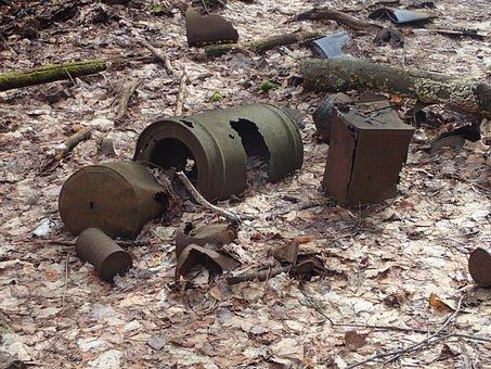 Abandoned Barrel, Rust, Trash, Garbage