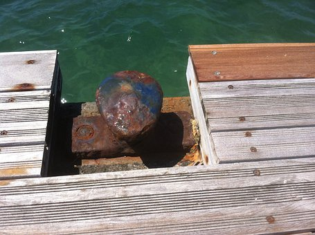 Dock, Bollard, Port, Mooring, Rusty, Pier, Wharf, Sea