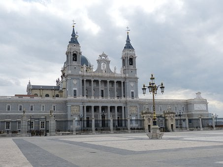 Madrid, Spain, Cathedral, Church, Steeple, Space