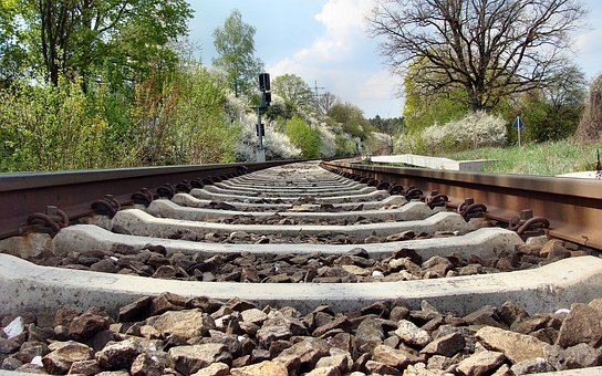 Railroad Tracks, Spring, Brenz Railway, Kbs 757, Train