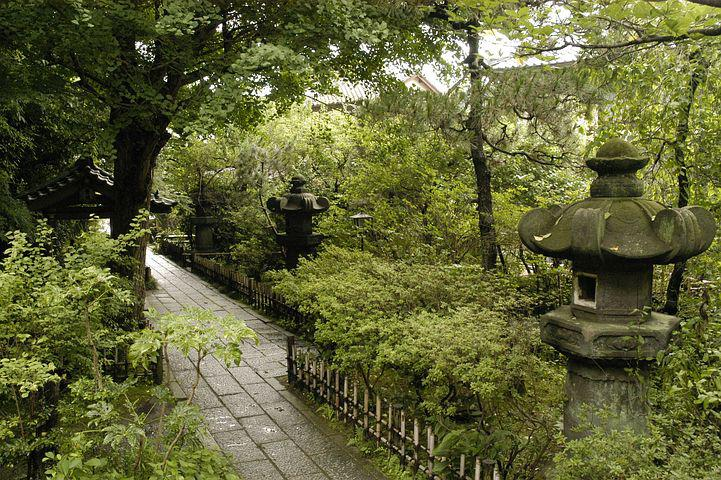Temple, Natural, Stone Lanterns, Quiet, Healing