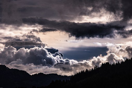 Thunderstorm, Clouds, Storm Clouds, Mountains, Mystical