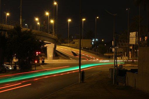 City, Life, Light, Urban, Night, Street, Baghdad, Iraq