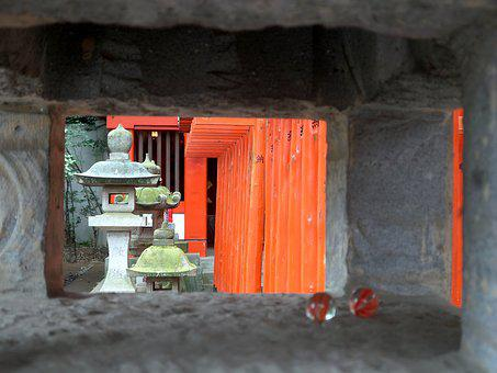 Japan, Utsunomiya, Temple, Lantern, Toris