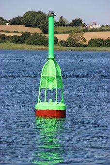 Ton, Boje, Green, More, Coast, Water, Shipping, Boot