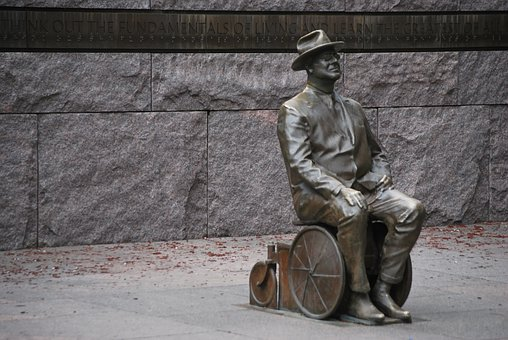 Roosevelt, President, Usa, Us, Statue, Memorial