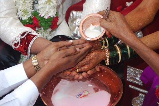 Henna, India, Wedding, Marriage, Customs, Kanyadan