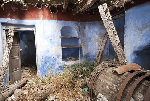 Winery, Ruins, Abandoned, Old, Broken, Barrel, Wood