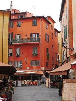 Old Town, Nice, Alley, Colorful, Lanterns, Restaurants
