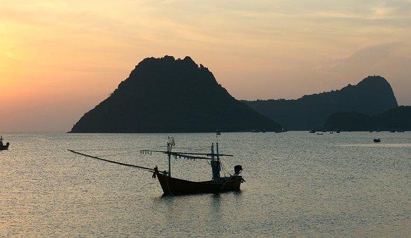 Alone, Peaceful Morning, Boat, Sunrise, Water, Restful