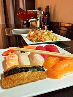 Sushi, Food, Fish, Seafood, Japanese, Meal, Rice, Asian