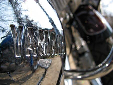 Motorbike, Yamaha, Bike, Vehicle, Close-up, Chrome