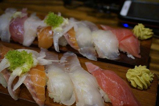 Sushi, Sashimi, Assorted Sushi, Wasabi, Bob