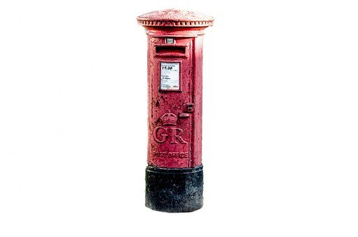 Post, Box, Postbox, Red, Mail, British, Letterbox
