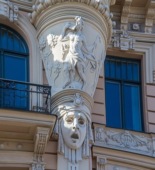 Latvia, Riga, Building, Art Nouveau, Riga Old Town
