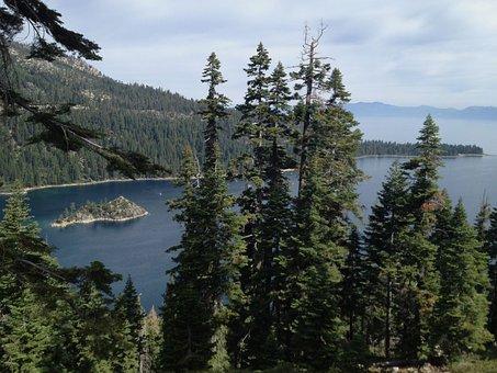 Lake Tahoe, Emerald Bay, Water, California, Island