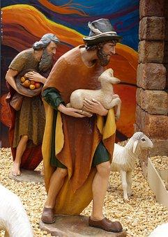 Crib, Shepherds, Christmas, Nativity Scene, Advent