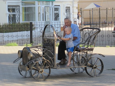 Automobile, Child, Kazakhstan, City Of Uralsk