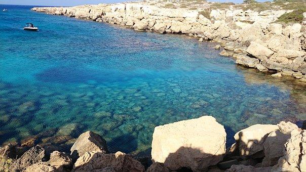 Fig Tree Bay, Napa, Cyprus, Ocean, Sea, Beach, Seascape