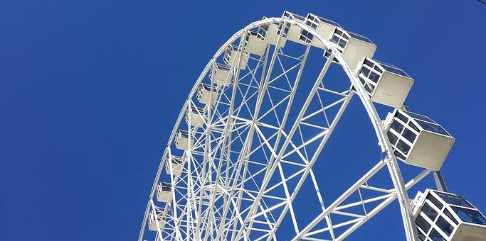 City, Ferris Wheel, Architecture, View, Almaty
