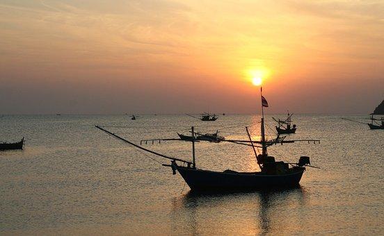 Thailand, Fisherman, Boat, Nostalgic Color, Siam