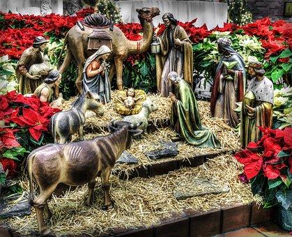 Nativity, Manger, Christmas, Jesus, Religion, Birth