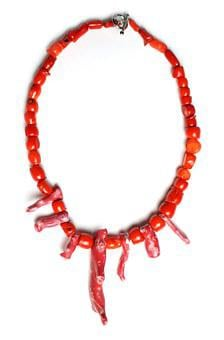 Red, Coral, Necklace, Beaded, Bead, Ocean, Natural