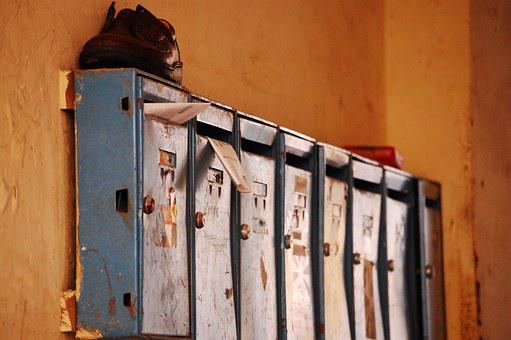 Mailbox, Post, Leave, Rusted, Old, Vintage, Shoe