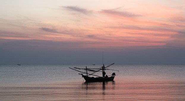 Thailand, Boat, Tranquility, Beautiful, Peace, Calmness