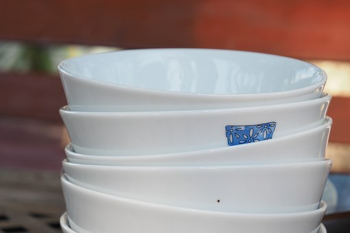 A Bowl, Cup, Porcelain Bowl, White, Picnic, Camping