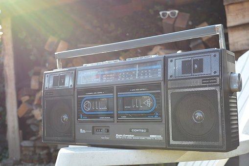Cassette Player, Radio, Retro, Swag, Vintage