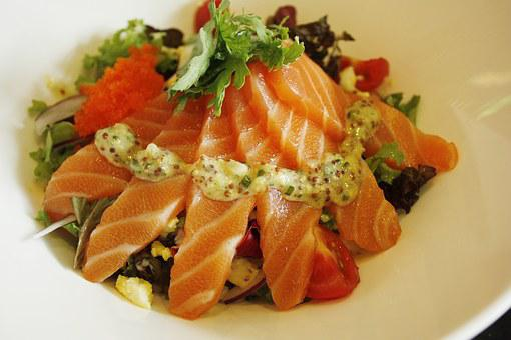 Salmon, Rice, Bob, Dining, Food Photography