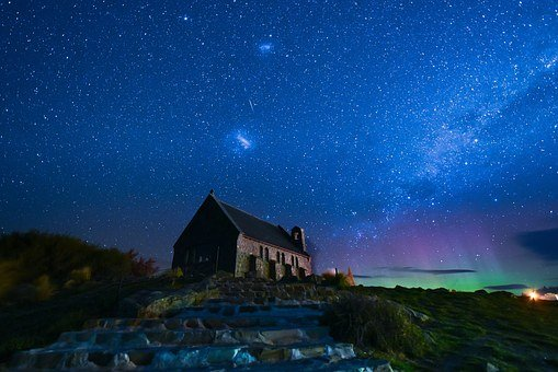 Starry Sky, Church, Southern Lights, Wrangler Church