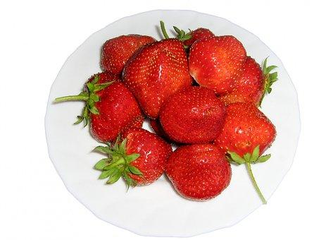 Strawberries, Berry, Fruit, Food, Sweet, Garden, Plants