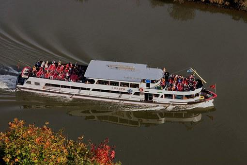 Neckar, Boat, Excursion Boat, Travel, River, Tour