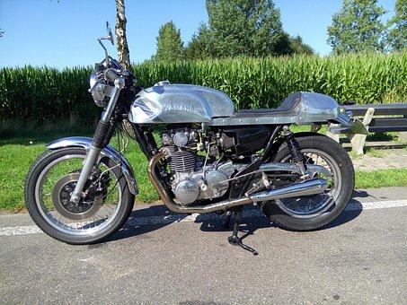 Caferacer, Motor, Oldtimer, Yamaha, Classic, Bike