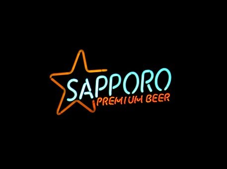 Neon, Beer, Bar, Sapporo, Alcohol, Sign, Drink