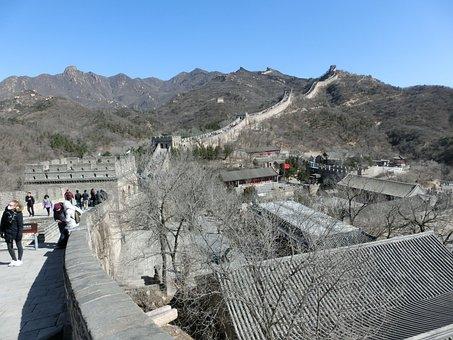 China, Great Wall Of China, Great Wall, Asia, Border
