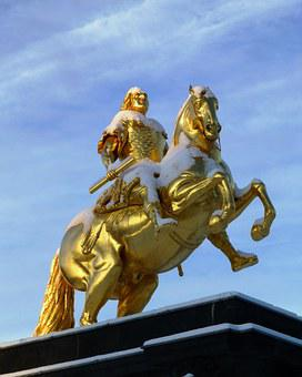 Golden Rider, Monument, Winter, August The Strong
