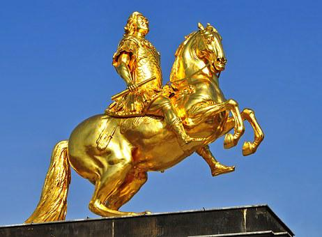 August The Strong, Dresden, Monument, Equestrian Statue