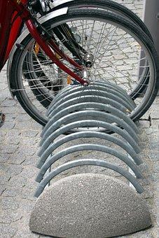 Bike, Rack, Bicycle, Park, Outdoor, Transportation