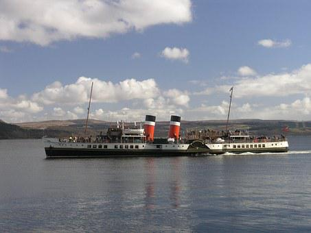 Paddle Steamer, Ship, Old, Steamer, Boat, Paddle, River