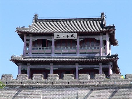 Great Wall Of China, Temple, Building, Defensive Walls