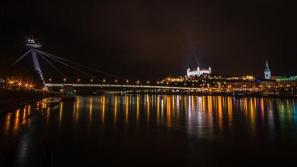 Bratislava, Bridge, The Danube, Castle, Cathedral