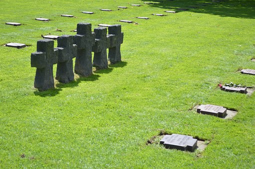 Cemetery, German, The Cambe, Falls, Burial, Death