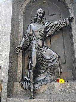 Christ, Statue, Sculpture, Art, Monument, Cemetery