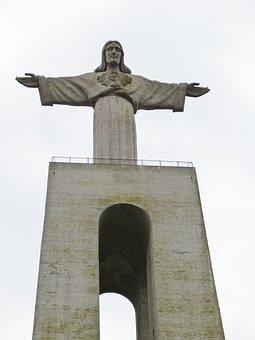 Lisbon, Portugal, Christ, Statue, Christian, Sculpture